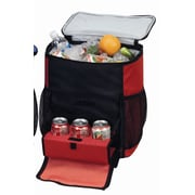Preferred Nation 48 Can Shuttle Rolling Picnic Cooler; Red