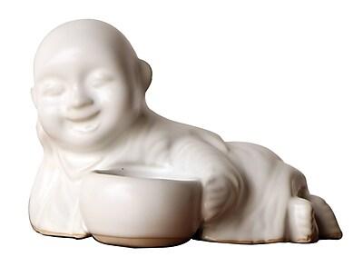 Asian Art Imports Reclining Monk Ceramic Tealight