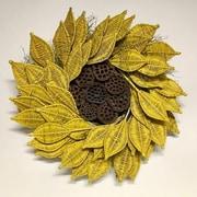 Dried Flowers and Wreaths LLC Urban Sunflower 22'' Wreath
