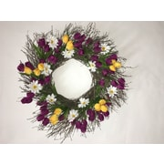 Dried Flowers and Wreaths LLC Tulip and Daisy Wreath; 22'' H x 22'' W