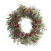 BurtonBurton 25'' Frosted Greenery Wreath