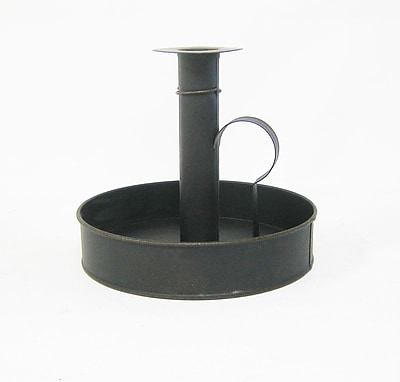 Craft Outlet Old Fashioned Taper Candlestick; Antique Black