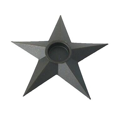 Craft Outlet Star Tealight (Set of 4); Black