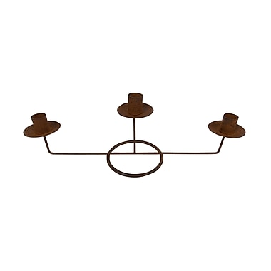 Craft Outlet Tin Metal Candelabra; Rustic