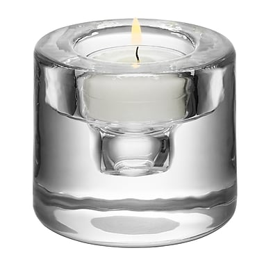 Orrefors Shine Votive Holder; Silver