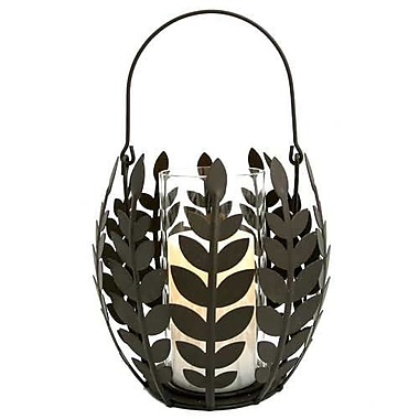 Pacific Accents Wisteria Leaf Basket Candle Holder