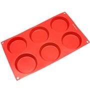 Freshware 6 Cavity Mini Disc Silicone Mold Pan