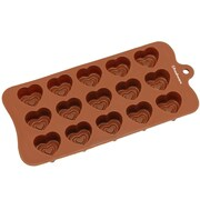 Freshware 15 Cavity Valentine Double Heart Silicone Mold Pan