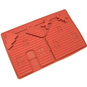 Freshware Gingerbread and Chocolate House Silicone Mold Pan (Set of 2)