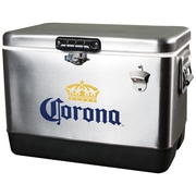 Koolatron 54 Qt. Corona Stainless Steel Ice Chest Cooler