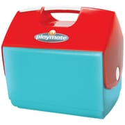 Igloo Playmate Elite Tanslucent Cooler; Aquamarine/Translucent Coral Red/White