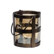 Essential Decor & Beyond Metal and Glass Lantern; Brown