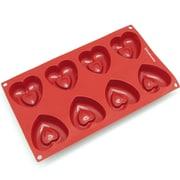 Freshware 8 Cavity Medium Heart Silicone Mold Pan