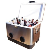 BrekX 54 Qt. Party Heavy Duty Cooler; Stainless Steel