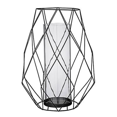 Bloomingville Geometric Metal and Glass Votive