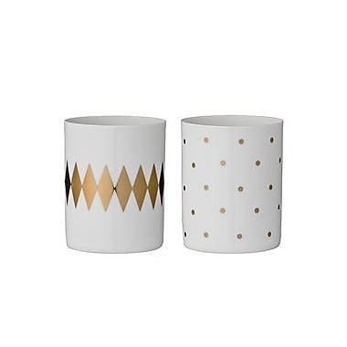 Bloomingville 2 Piece Ceramic Votive Set