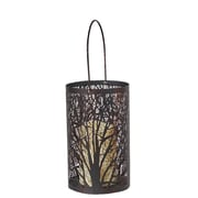 Smart Living Arboretum Lantern w/ Tree Pattern and LED Candle