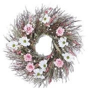 Dried Flowers and Wreaths LLC Cosmos and Rose 22'' Wreath