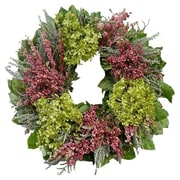 Dried Flowers and Wreaths LLC Hydrangea and Pink Flowers 22'' Wreath
