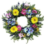 Dried Flowers and Wreaths LLC Faux Gerbera 22'' Wreath