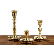 Fashion N You 3 Piece Cape Fear Metal Candlestick Set; Brass