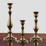 Fashion N You 3 Piece Aged Brass Candlestick Set