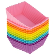 Freshware Silicone Square Reusable Cupcake and Muffin Baking Cup (Set of 12); Multi