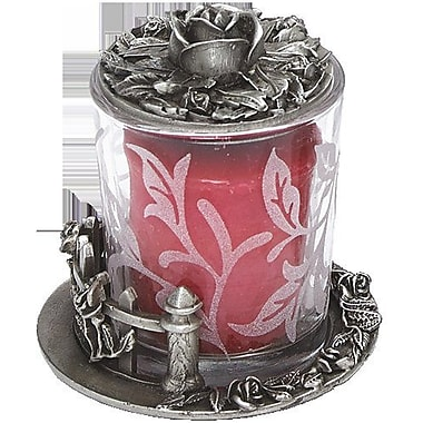 BiancaCollection Rose Fence Pewter Votive