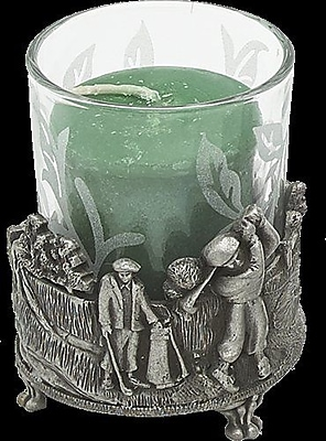 BiancaCollection Golfer in Field Pewter Votive