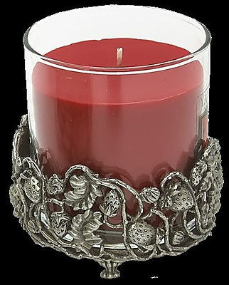BiancaCollection Strawberry Pewter Pillar Candle Holder