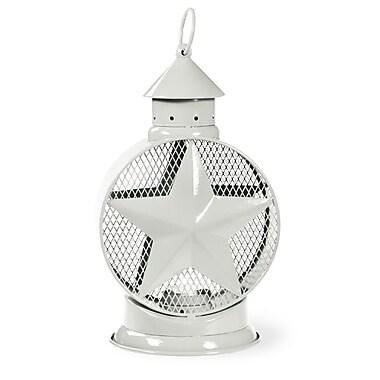 Boston International Star Metal Tealight Lantern; White