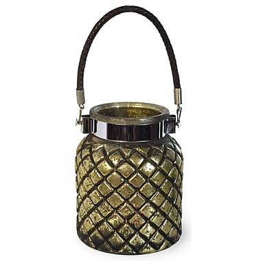 Boston International Glass Lantern; 6.75'' H x 5.25'' W x 5.25'' D