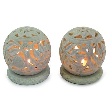Novica Stone Candle Holder (Set of 2)
