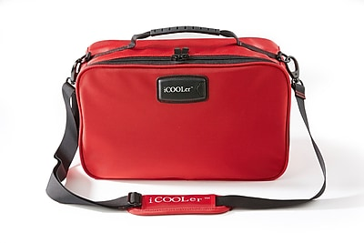 iCoolerLLC Freezable Lunch and Beverage Bag Cooler; Red