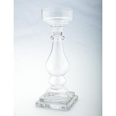 Diamond Star Glass Glass Candlestick; 14'' H x 5'' W x 5'' D