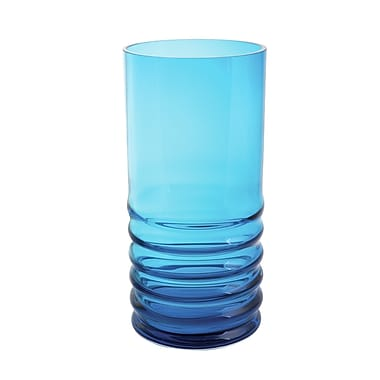 Dartington Wibble Glass Hurricane; Turquoise