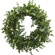 Nearly Natural 18'' Eucalyptus Double Ring Wreath