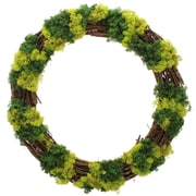 Floral Treasure Mossy Lane Wreath; 30'' H x 30'' W x 4'' D