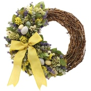 Floral Treasure Speckled Eggs 22'' Wreath