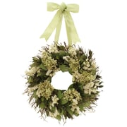 Floral Treasure Kings Garden 16'' Hydrangea/Natural Leaf Wreath