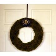 HensonMetalWorks Collegiate Logo Wreath; University of Colorado - Black