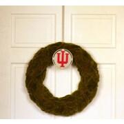 HensonMetalWorks Collegiate Logo Wreath; Indiana University