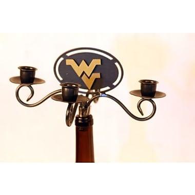 HensonMetalWorks NCAA 4 Arm Wine Bottle Candelabra; West Virginia University