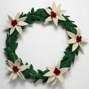 Arcadia Home 14'' Poinsettia Wreath