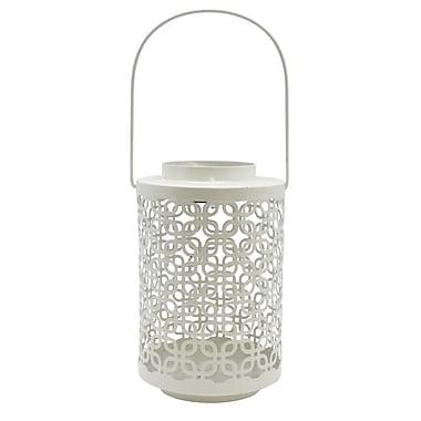 Alpine Metal Lantern; White