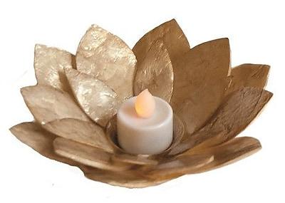 Dekorasyon Sunburst Flower Votive; Gold
