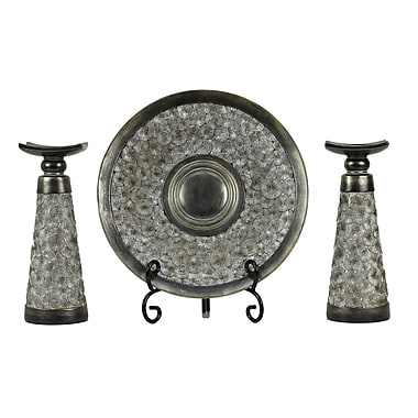D'lusso Designs Adelphi 4 Piece Polyresin Candlestick Set