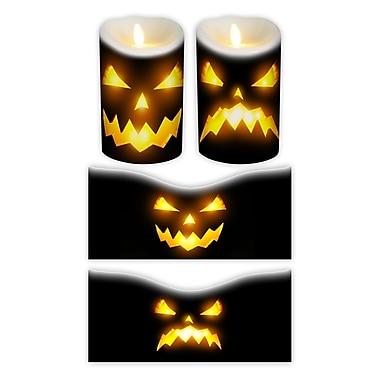 FlamelessDecor 2 Piece Halloween Votive Candle Wrap (Set of 2); 5'' H x 3.5'' W x 3.5'' D