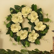 Floral Home Decor 25'' Magnolia Wreath