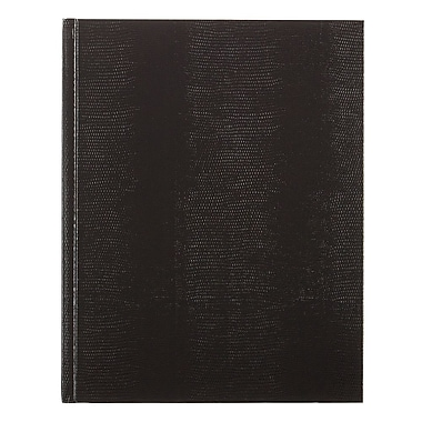 Blueline Executive Business Journal, Black Lizard Look Hardbound Cover, 150 Pages / 75 Sheets, 11